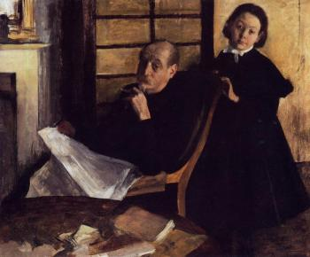 Edgar Degas : Henri De Gas and His Neice, Lucie Degas II