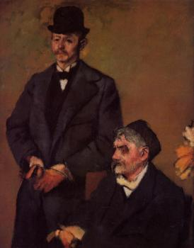 Edgar Degas : Henri Rouart and His Son Alexis