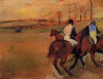 Edgar Degas : Horses and Jockeys