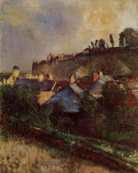 Edgar Degas : Houses at the Foot of a Cliff at Saint Valery sur Somme