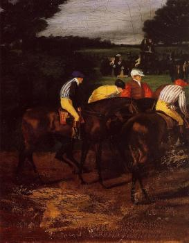 Edgar Degas : Jockeys at Epsom