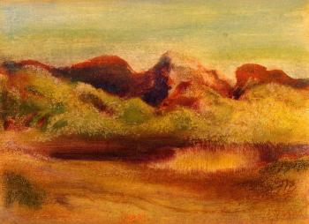 Edgar Degas : Lake and Mountains