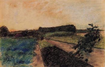 Edgar Degas : Landscape on the Orne