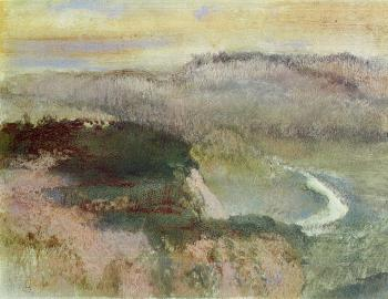 Edgar Degas : Landscape with Hills