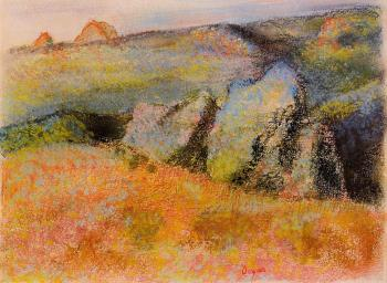 Edgar Degas : Landscape with Rocks