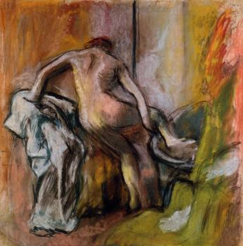 Edgar Degas : Leaving the Bath