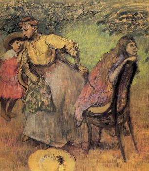 Edgar Degas : Madame Alexis Rouart and Her Children