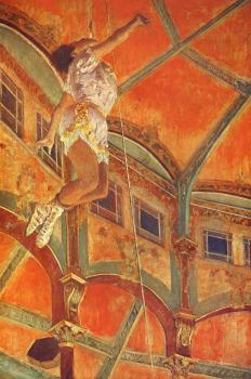 Edgar Degas : Miss La La at the Cirque Fernando, Paris
