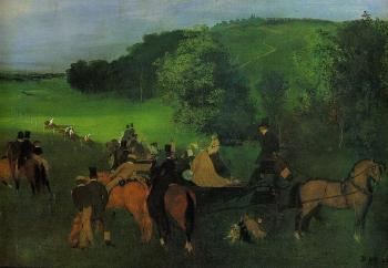 Edgar Degas : On the Racecourse
