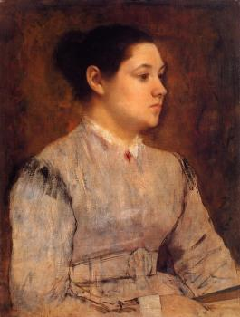 Edgar Degas : Portrait of a Young Woman II