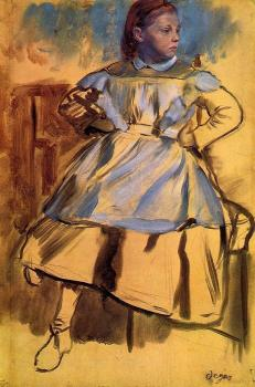 Edgar Degas : Portrait of Giulia Belleli II