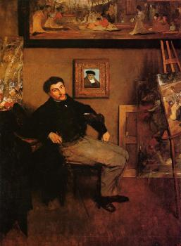 Edgar Degas : Portrait of James Tissot