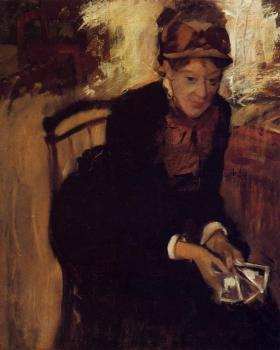 Edgar Degas : Portrait of Mary Cassatt II