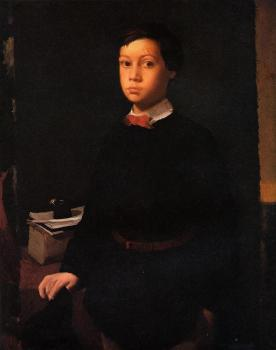 Edgar Degas : Portrait of Rene De Gas, The Artist Brother II