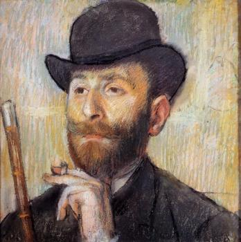 Edgar Degas : Portrait of Zacherie Zacharian