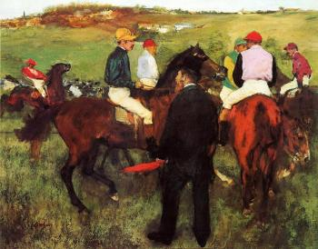 Edgar Degas : Racehorses at Longchamp II