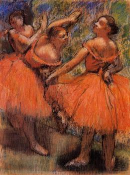 Edgar Degas : Red Ballet Skirts