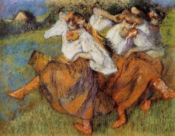 Edgar Degas : Russian Dancers