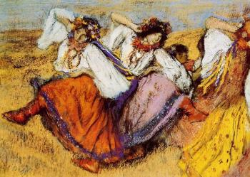 Edgar Degas : Russian Dancers IV
