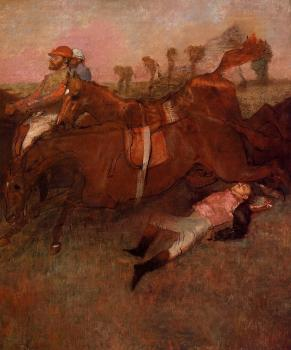 Edgar Degas : Scene from the Steeplechase   the Fallen Jockey