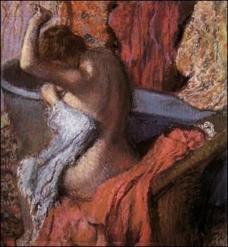 Edgar Degas : Seated Bather Drying Herself