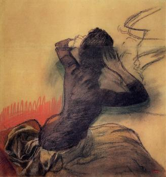 Edgar Degas : Seated Woman Adjusting Her Hair