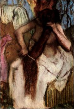 Edgar Degas : Seated Woman Combing Her Hair