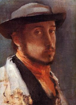 Edgar Degas : Self Portrait in a Soft Hat