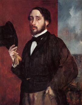Edgar Degas : Self Portrait Saluting