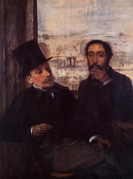 Edgar Degas : Self Portrait with Evariste de Valernes