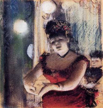 Edgar Degas : Singer in a Cafe Concert
