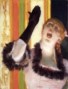 Edgar Degas : Singer with a Glove