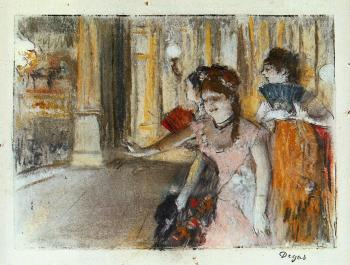 Edgar Degas : Singers on Stage