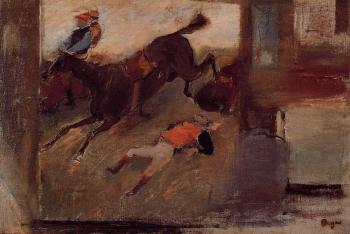 Edgar Degas : Studio Interior with 'The Steeplechase'