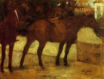 Edgar Degas : Study of Horses