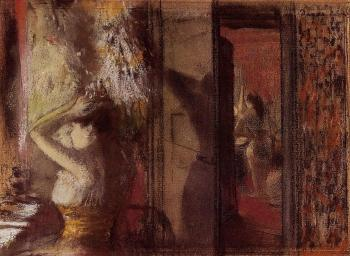 Edgar Degas : The Actresses Dressing Room