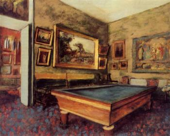 Edgar Degas : The Billiard Room at Menil Hubert