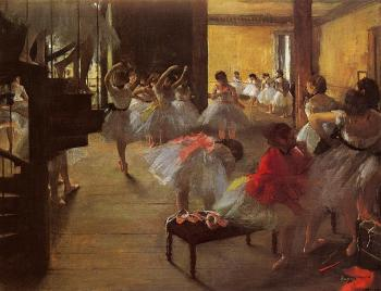 Edgar Degas : The Dance Class II