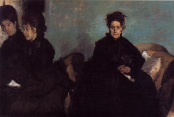 Edgar Degas : The Duchess di Montajesi with Her Daughters