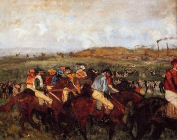 Edgar Degas : The Gentlemen's Race   Before the Start
