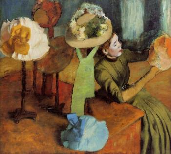 Edgar Degas : The Millinery Shop II
