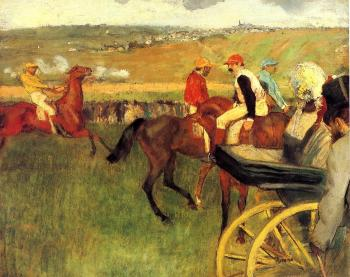 Edgar Degas : The Racecourse, Amateur Jockeys