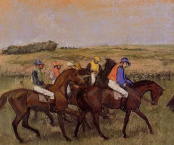 Edgar Degas : The Racecourse