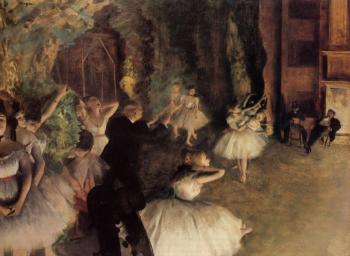 Edgar Degas : The Rehearsal of the Ballet on Stage