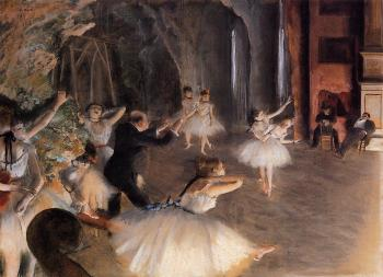 Edgar Degas : The Rehearsal of the Ballet on Stage II