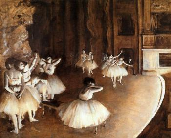 Edgar Degas : The Rehearsal of the Ballet on Stage III