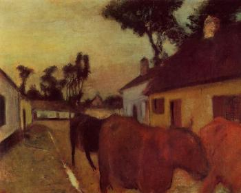 Edgar Degas : The Return of the Herd