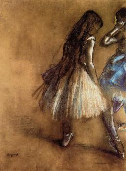Edgar Degas : Two Dancers