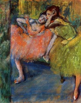 Two Dancers in the Studio