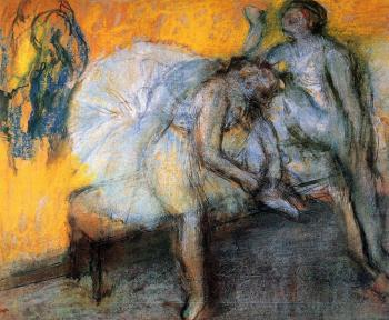 Edgar Degas : Two Dancers Resting